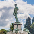 Постер, плакат: David at Piazzale Michelangelo in Florence Italy
