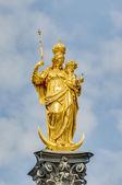 A coluna mariensaule em munique, alemanha. — Foto Stock