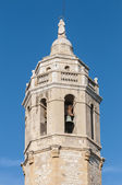 Sant Bartomeu i Santa Tecla church at Sitges, Spain — Fotografia Stock