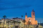 Sant Bartomeu i Santa Tecla church at Sitges, Spain — Stock Photo