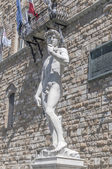 Statue de david de Michel-Ange à florence, Italie — Photo