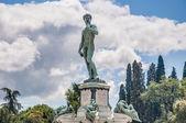 David no piazzale michelangelo, em florença, itália — Foto Stock