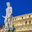 The Fountain of Neptune by Ammannati in Florence, Italy — Stock Photo #40647991