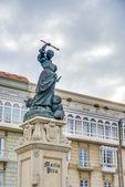 Monument to Maria Pita, A Coruna, Galicia, Spain. — Foto Stock