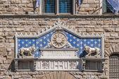 Palazzo vecchio, il municipio di firenze, italia. — Foto Stock
