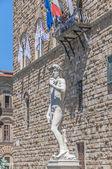 Estátua de david de michelangelo em florença, itália — Fotografia Stock