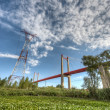 Stock Photo: Zarate Brazo Largo Bridge, Entre Rios, Argentina