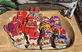 Wooden crafts in Purmamarca, Jujuy, Argentina. — Stock Photo