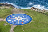 Compass rose in A Coruna, Galicia, Spain. — Stockfoto