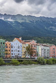 Mariahilf, улица в городе инсбрук, австрия. — Стоковое фото