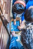 Flour War in Berga, Spain — Stock Photo