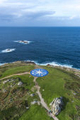 Compass rose in A Coruna, Galicia, Spain. — Foto de Stock