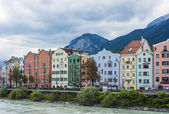 Inn river on its way through Innsbruck, Austria. — Stock Photo