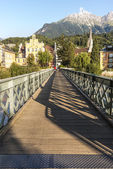 Innsteg bridge in Innsbruck, Upper Austria. — Foto de Stock