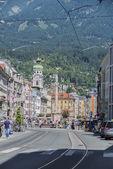 Maria Theresien street in Innsbruck, Austria. — ストック写真
