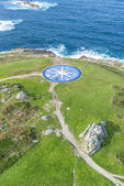 Compass rose in A Coruna, Galicia, Spain. — Stock Photo