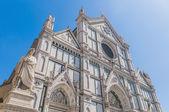 A basílica da santa cruz em florença, itália — Fotografia Stock