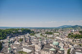 Salzburg general view from Salzburg Fortress (Festung Hohenzalsb — ストック写真