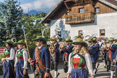 Maria Ascension procession Oberperfuss, Austria. — Stock Photo