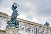Monument to Maria Pita, A Coruna, Galicia, Spain. — Stock fotografie