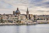 Vistas mar valletta, malta — Foto de Stock
