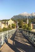 Innsteg bridge in Innsbruck, Upper Austria. — Stock Photo