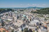 Salzburg algemene uitzicht vanaf salzburg Fort (festung hohenzalsb — Stockfoto