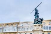 Monument to Maria Pita, A Coruna, Galicia, Spain. — ストック写真