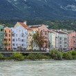 Stock Photo: Inn river on its way through Innsbruck, Austria.