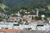 General view of Innsbruck in western Austria. — Stockfoto