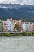Inn river on its way through Innsbruck, Austria. — Foto de Stock