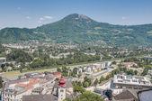 Salzburg general view from Salzburg Fortress (Festung Hohenzalsb — Stock Photo