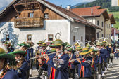 Maria Ascension procession Oberperfuss, Austria. — 图库照片