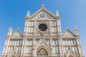 La basílica de la santa cruz en florencia, italia — Foto de Stock