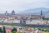 Florence's as seen from Piazzale Michelangelo, Italy — Stockfoto