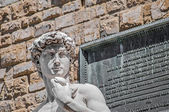 Michelangelo's David statue in Florence, Italy — Stockfoto