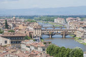 The Ponte Vecchio (Old Bridge) in Florence, Italy. — Stock Photo