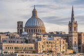 Valletta seafront skyline view, Malta — Stock Photo