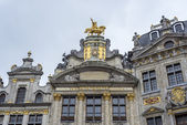 Guildhalls on Grand Place in Brussels, Belgium. — Foto Stock