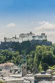 Hohensalzburg Castle (Festung Hohensalzburg) at Salzburg, Austri — Foto Stock
