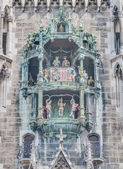 Neues Rathaus carillion in Munich, Germany — Stock Photo