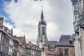 The belfry (French: beffroi) of Tournai, Belgium — Stock Photo
