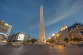 The Obelisk (El Obelisco) in Buenos Aires. — Zdjęcie stockowe