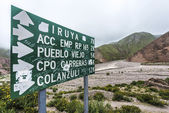 Route 13 to Iruya in Salta Province, Argentina — Foto Stock