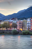 Inn river on its way through Innsbruck, Austria. — Stok fotoğraf
