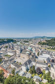 Salzburg general view from Salzburg Fortress (Festung Hohenzalsb — Stock Photo