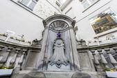 Manneken Pis in Brussels, Belgium. — Stock Photo