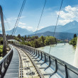 Innsbrucker Nordkette cable railways in Austria. — Stock Photo