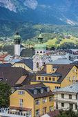 General view of Innsbruck in western Austria. — Foto Stock