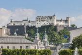 Hohensalzburg Castle (Festung Hohensalzburg) at Salzburg, Austri — Stock fotografie